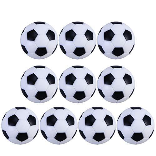 BESPORTBLE 10 Piezas de Fútbol de Mesa Futbolines Bolas de Repuesto Mini Balones de Fútbol Oficial Juego de Pelota Accesorio de 32 Mm de Diámetro