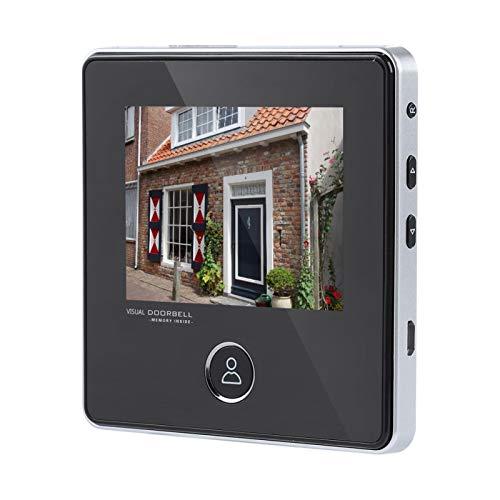 Zerone Door Viewer - Mirilla electrónica para cámara con visión nocturna gran angular de 120° con visión nocturna por infrarrojos