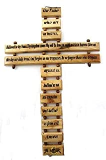 My Caring Cross Olive Wood Wall Crosses from The Holy Land (9 Inches, Lord's Prayer Wall Cross)