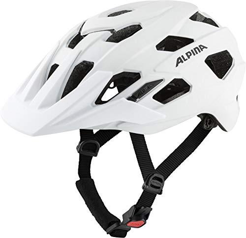 ALPINA Unisex - Erwachsene, PLOSE MIPS Fahrradhelm, white matt, 52-57 cm