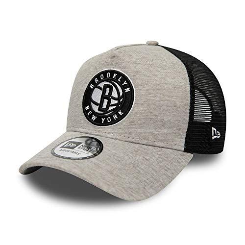 New Era Brooklyn Nets cap Trucker Kappe Jersey Mesh Basecap NBA Basketball Grau - One-Size