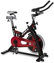 BH Spinred H9132 - Bicicleta estática (22 kg, con volante, transmisión por cadena), color negro y rojo