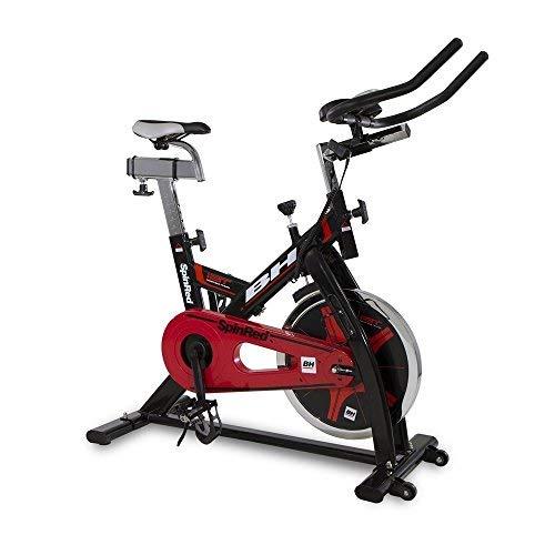 Bh Fitness SPINRED H9132 Indoor Bike con Freno a Frizione. Volano da 22 kg. Trasmissione a Catena