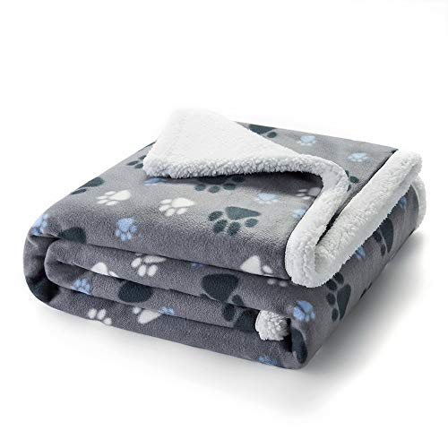 Puppy King Waterproof Pet Blanket, Machine Washable Liquid Pee Proof Blanket for Couch Sofa Bed, Durable 3 Layer Blanket Protector Cover for Small Medium Large Dogs Cats, 55x50 inches, Grey
