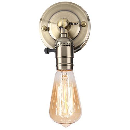 Edison Douille Vintage E27 Adaptateur de Lampe Rétro Vintage Lustre sans Fil en Aluminium Céramique à L'intérieur Aluminium avec Interrupteur pour Maison et Décoration 220V-240V(Bronze)