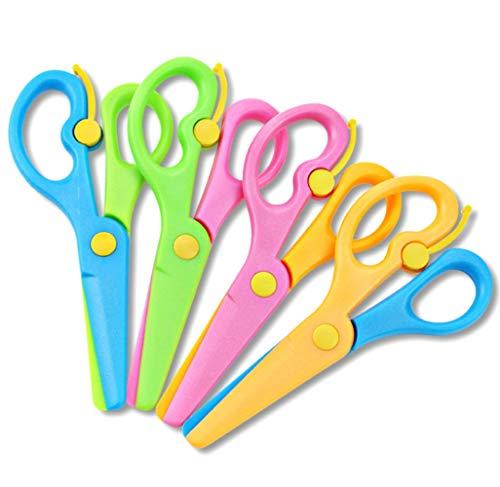4 tijeras de seguridad para niños, tijeras de entrenamiento preescolar, tijeras de seguridad antipinzamiento para niños, tijeras para la escuela y uso en jardín de infantes
