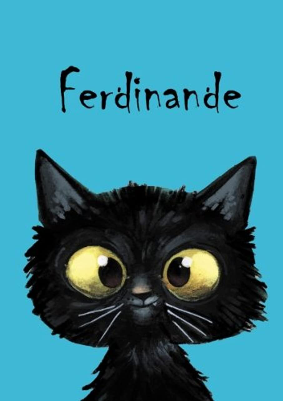失望させる胆嚢韻Ferdinande: Ferdinande - Katzen - Malbuch / Notizbuch / Tagebuch: A5 - blanko