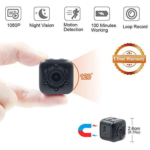 Mini Nascosta Telecamera Spia LXMIMI 1080P HD grandangolare Mini Microcamere Spia Mini Spy Cam Webcam Portatile con Visione Notturna e Rilevamento del Movimento per la Sorveglianza Indoor/Outdoor