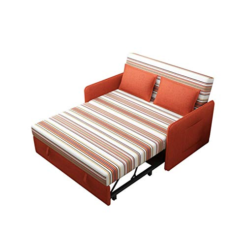 Sofa Bed Sleeper Convertible Lounge Futon Couch, Dual-purpose Telescopic Folding Sofa Bed, Easily Assemble Couch, Couch Bed Sofa Pull Out for Kids, Home Office Apartment Bed