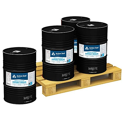 Product Image of the Coal Tar Asphalt Sealer for Sealcoating Driveways and Parking Lots | Four 55-Gallon Drums - 1 Pallet - 220 Gallons Blacktop Sealant