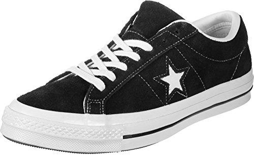 Converse Lifestyle One Star Ox, Sneakers Basses Mixte, Noir (Black/White/White 001), 37.5 EU