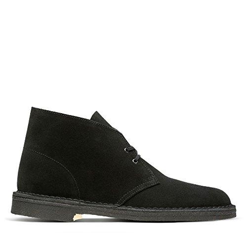 Clarks Originals Desert Boot, Herren Kalt gefüttert Desert Boots Kurzschaft Stiefel & Stiefeletten, Schwarz (Black), 46 EU