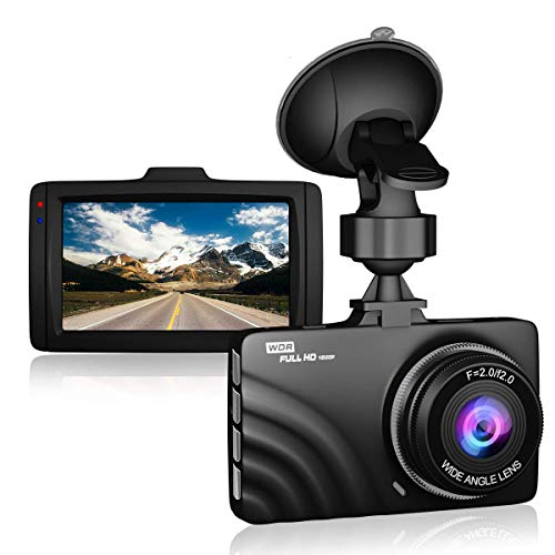 Claoner Dash Cam 1080P Full HD Dashcam Car Camera DVR Dashboard Camera 3' IPS Screen 170° Wide Angle, G-Sensor, WDR, Parking Monitor, Loop Recording, Motion Detection