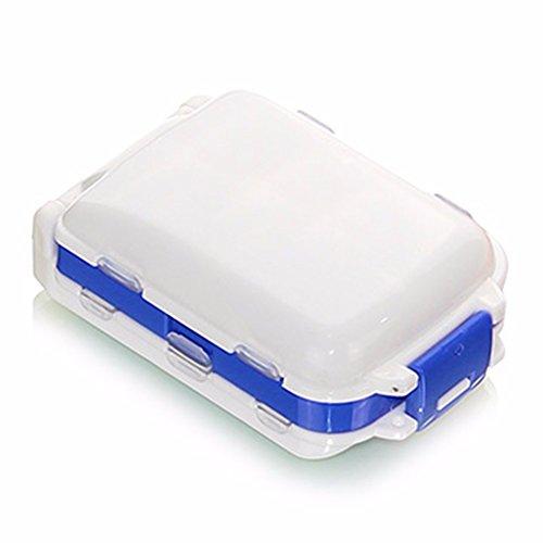 HQLCX Une Semaine De Médecine Mobiles Portatifs Boîte Boîte De Rangement De Médecine des Voyages Mini Emballage Petite Boîte À Pharmacie,Blue