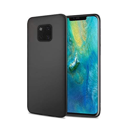 Agedate Handyhülle für Huawei Mate 20 Pro 6,39 Zoll, Ultra Dünn hülle Stoßfest Hülle, Soft Silikon Bumper Cover, Shock Absorption Schutzhülle Kompatibel mit Huawei Mate 20 Pro, Schwarz