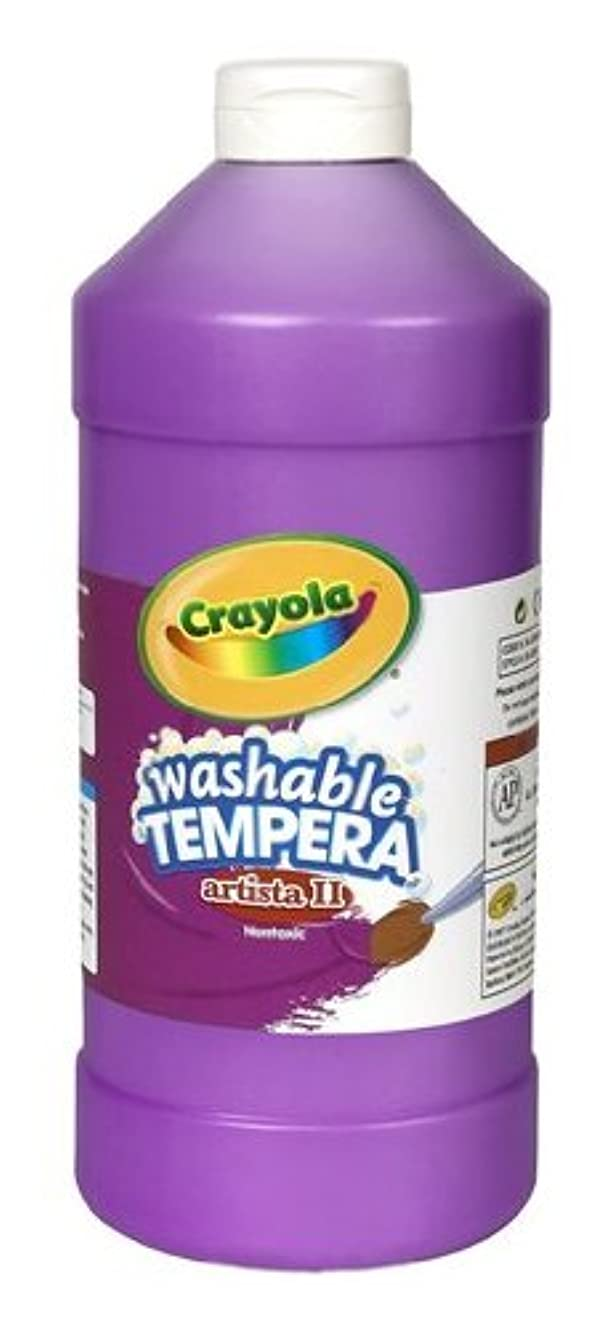 Crayola Washable Tempera Paint, Violet Paint Craft Supplies, 32 Ounce