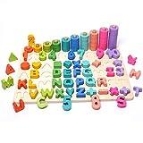 HSJ WDX- Juguetes para bebés, Juguetes educativos, educación temprana, niños de 1 a 3 años, Desarrollo Intelectual, reconocimiento de Juguetes de Bloque de construcción Digital Rutina de Ejercicio