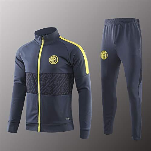 LQRYJDZ Traje de Entrenamiento de fútbol Interg Milan Club Team Competición Traje Sportswear Chaqueta Juego de Chaqueta de fútbol de fútbol (Opciones múltiples) (Color : C, Size : L)