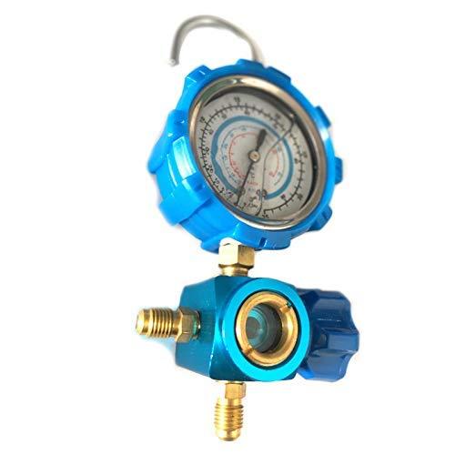 LKK-KK R410A R22 R134A refrigerante alto/baja presión 1/4 Auto Aire acondicionado Aire acondicionado Refrigerante Medidor de presión Herramienta Azul