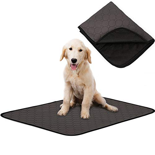 Dog Bed Mat for Crate Kennel, Waterproof Pet Pee Training Pads with Anti-slip Bottom for Puppy Small Medium and Large Doggy, Sleeping Mattress Cushions for Food Bowls|Cage|Car|Sofa,Machine Washable Bed Mats