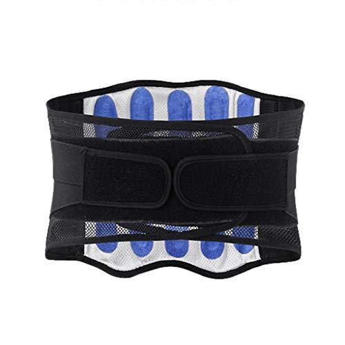 ZFF Respirable Cinturón Lumbar Doble Compresion Ajustamiento Espalda Baja Cinturón De Alivio Dolor Hombres Mujer Discos Herniados (Size : L/Large)