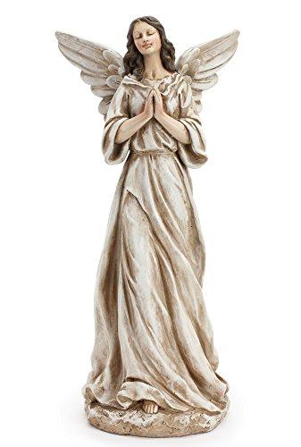Napco Peaceful and Serene Praying Angel 15 Inch Resin Decorative Indoor Outdoor Garden Statue -  43237-2