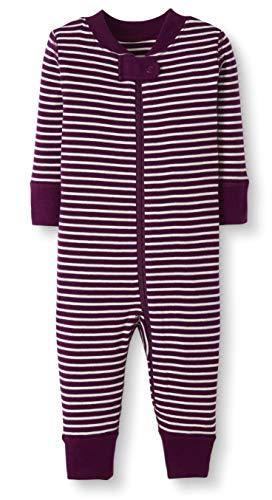 Moon and Back by Hanna Andersson Einteiliger Schlafanzug für Babys/Kleinkinder, aus Bio-Baumwolle, ohne Fuß, beere, 6-12 Monate (67-72 CM)