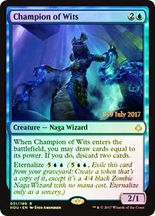 Magic: The Gathering - Champion of Wits - Foil - Prerelease Promo