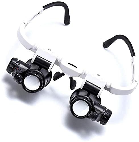 dh-7 8x15x23x Diadema Lupa Reloj Reparación de Reloj Gafas de Montaje en la Cabeza de precisión