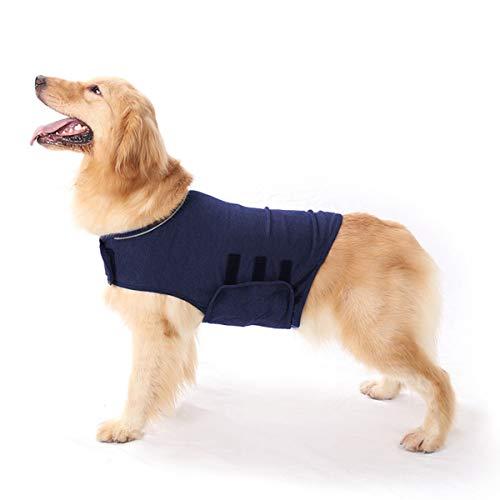 Haokaini Chaqueta para Perros Anti-Ansiedad Abrigo Calmante para Perros Camisa para Aliviar El Estrés de Mascotas Chaleco Calmante Cálido Abrigo Ligero para Perros Trueno Chaqueta para