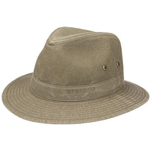 Stetson Sombrero Organic Cotton Traveller Hombre - de Tela Sol con Forro...