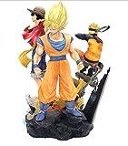 Anime Dragon Ball Z One Piece Naruto Figura Gk Big Three Goku Luffy Uzumaki Naruto 24Cm, PVC Figura De Acción Manga Merch Estatuas Modelo Colección Juguete Niños Regalos De Cumpleaños