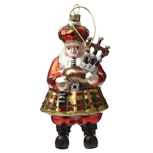 Scottish Bagpipe Santa Decoration