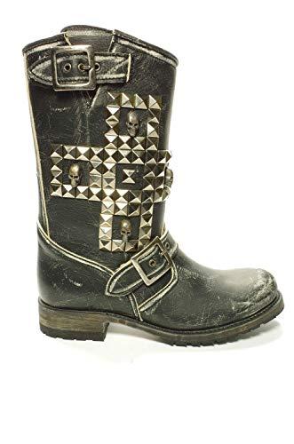 Sendra 10639 Chiquita Studs Zwart, Biker Fashion Boots voor Dames