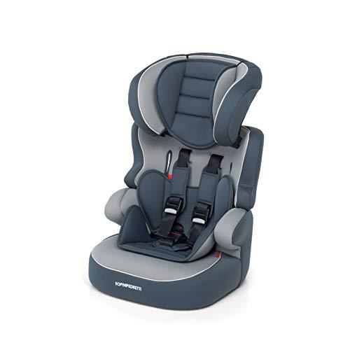Foppapedretti Babyroad - Seggiolino Auto, Gruppo 1-2-3 (9-36 Kg) per Bambini da 9 Mesi a 12 Anni Circa, Gris