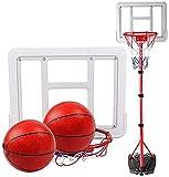 WANJIA Aro de Baloncesto portátil, Soporte de Baloncesto Ajustable en Altura Tablero de Soporte de Baloncesto Ajustable de 120 cm a 240 cm, para niños Deportes al Aire Libre en Interiores,A