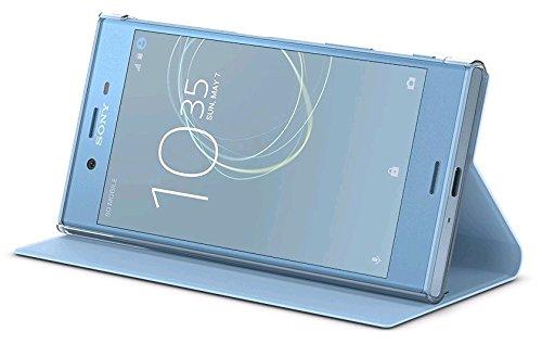 Style Cover Flip Handhülle in ice-blue mit Standfuß - für Sony Xperia XZs