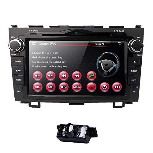 Pantalla táctil digital de 8 pulgadas Radio de coche Estéreo en tablero para Honda CRV C-RV Soporte Navegación GPS Bluetooth Reproductor de DVD y CD Radio RDS Control del volante Subwoofer USB AUX