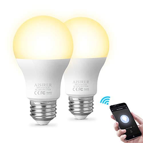 Bombilla inteligente Bombillas LED WiFi Compatible con Amazon Alexa Ec