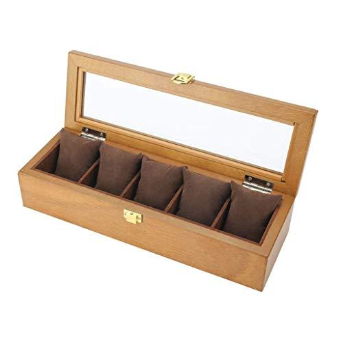 Caja de reloj Almacenamiento de joyas Caja de reloj de madera - Soporte de exhibición / Juego de caja / Caja de colección / Caja de almacenamiento para relojes de joyería - Caja de exhibición de reloj