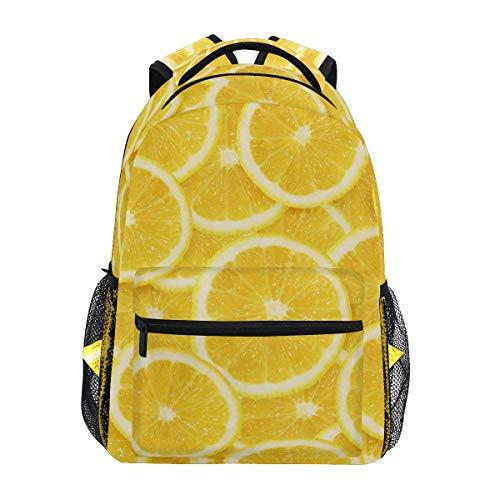 Mochila Escolar de limonero Amarillo con Frutas y Limones, Gran Capacidad, de Lona, Estilo Casual, para Viajes, para niños, Adultos, Adolescentes, Mujeres, Hombres