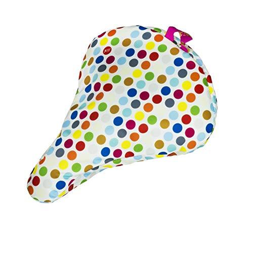 Liix Sattelbezug Sattel Cover wasserdicht, LiBez, Muster Polka Big Dots Mix Weiß