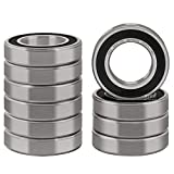 XiKe 10 Pcs 6005-2RS Double Rubber Seal Bearings 25x47x12mm, Pre-Lubricated and Stable Performance and Cost Effective, Deep Groove Ball Bearings.