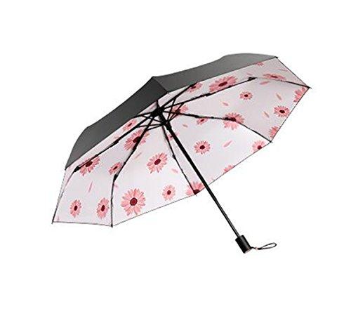 TysLDss Blütenblätter, Gänseblümchen, Sonnenschirme, Liegestühle, Sonnenschirme, UV-Schutz, Ultraleicht, kleine Falten Regen, doppelten Zweck, Sonnenschirme,, Stil A