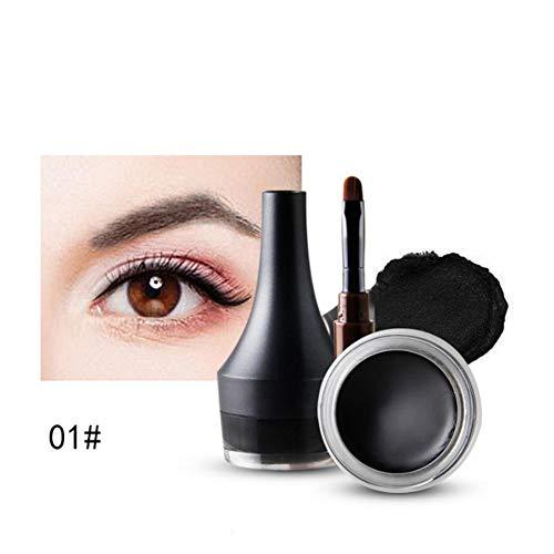 Crema delineador de ojos, resistente al agua Drama Eye Liner Gel delineador de ojos Maquillaje Por Filfeel(Black)