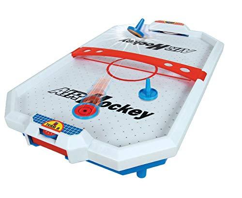 Haberkorn Mini AirHockey Air Hockey Spiel für den Tisch mit Sound
