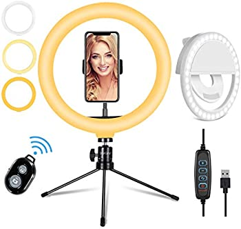 10.2″ LED Selfie Ring Light with Adjustable Tripod Stand