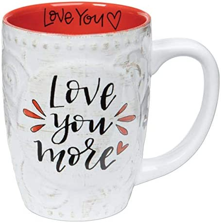 Brownlow Gifts Simple Inspirations Ceramic Floral Gift Mug 16 Ounces Love You More product image