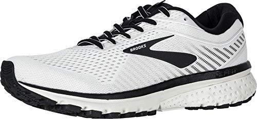 Brooks Ghost 12 Chaussures de course pour homme, multicolore (Blanc/gris/noir), 43.5 EU