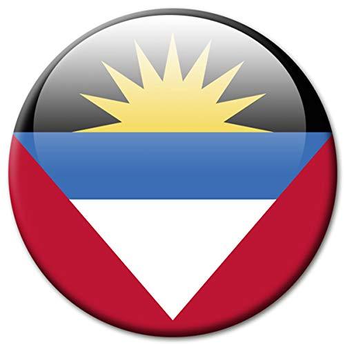 Kühlschrankmagnet Flagge Antigua & Barbuda Magnet Länder Flaggen Reise Souvenir für Kühlschrank stark groß 50 mm
